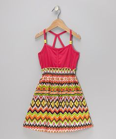 Take a look at this Pink Ikat Dress - Girls on zulily today!