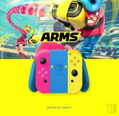 Joy Con Arms. If U like it, follow me on Twitter ! joycon, nintendo switch, dock, joy-con
