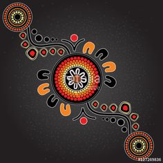 Illustration based on aboriginal style of dot painting. Aboriginal Tattoo, Aboriginal Art Symbols, Aboriginal Dot Painting, Aboriginal Artists, Dot Art Painting, Encaustic Painting, Arte Tribal, Tribal Art, Indigenous Australian Art