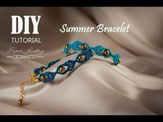 Letnia, łatwa, elegancka bransoletka. Easy, elegant, summer bracelet tutorial. Pulsera de verano DIY - YouTube