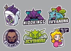 Parody Stickers by cronobreaker on DeviantArt Badge Design, Logo Design, Vector Design, Video Game Logos, Sticker Bomb, Branding, Logo Color, Cultura Pop, Sports Logo