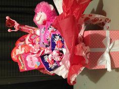 Kids valentines basket