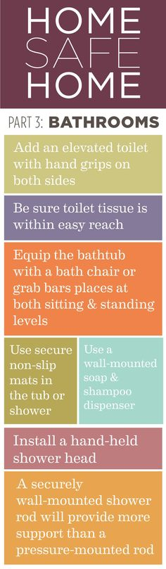 Home Safe Home: Pt. 3 Tips to a safer bathroom. #hospice #caregiving