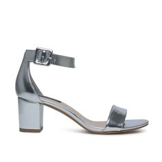 Minimal sandalen metallic zilver