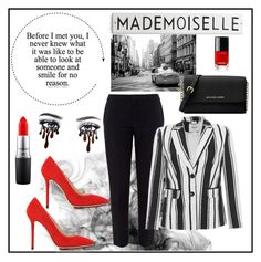 """""""A touch of red"""" by siggan22 on Polyvore featuring Charlotte Olympia, Chloé, MAC Cosmetics, Blugirl and Michael Kors"""