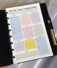 Business Plan Template Discover Mini Work Organizer - Half Letter Size - printable planner page Fillable daily planner weekly planner to do checklist Work Planner, Weekly Planner, Happy Planner, College Planner, College Tips, Binder Planner, Organizer Planner, 2015 Planner, Blog Planner