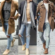 Cool and Trendy Winter Fashion Style Ideas for Men Winter Outfits Men, Stylish Mens Outfits, Casual Outfits, Simple Outfits, Suit Fashion, Mens Fashion, Fashion Shirts, Fashion Guide, Daily Fashion