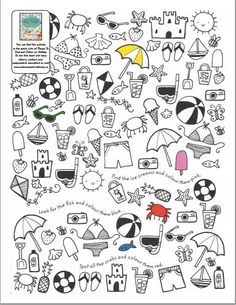 Summer themed colouring activities
