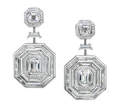 Ivanka Trump Diamond and Rock Crystal Octagonal Drop Earrings... yes please!