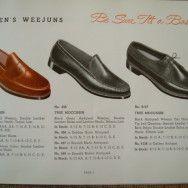 GH Bass 1958 Weejuns Catalog.