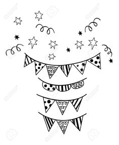 Birthday Flag Party Silhouette Vector Royalty Free Cliparts, Vectors, And Stock Illustration. Image 26837820.