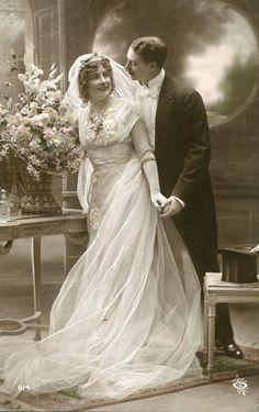Vintage Wedding Postcard, ca. 1900s