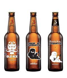 3 Ravens Beer | #packaging #bottledesign #beer