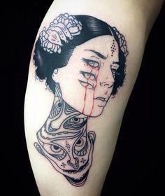 Done London Barcelona September /// Red Tattoos, Love Tattoos, Body Art Tattoos, Small Tattoos, Tattoos Skull, Girl Tattoos, Piercings, Piercing Tattoo, I Tattoo