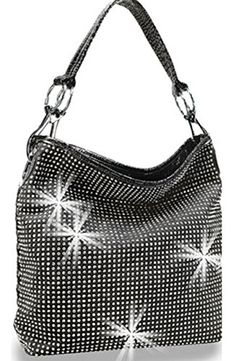 Zzfab All Sparkle Purse Rhinestone Handbags Bling Hobo Bag 94c5c8b1a96e9