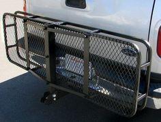 "60"" Folding Truck Car Cargo Carrier Basket Luggage Rack Hitch Hauler 2 ..."