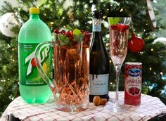 His and Her 7-UP Holiday Cocktails