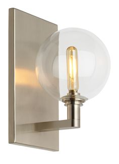 The Gambit Triple LED wall sconce light from Tech Lighting exudes undeniable beauty and warm contemporary style through its bold use of high end mixed materials and retro-inspired, fully dimmable LED lamping.  In a Satin Nickel Finish.