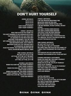 Dont Hurt YourSelf Lyrics