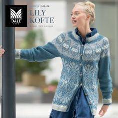 DG369-01 Viviane genser – Dale Garn Graphic Sweatshirt, Denim, Knitting, Sweatshirts, Sweaters, Lily, Fashion, Threading, Jackets