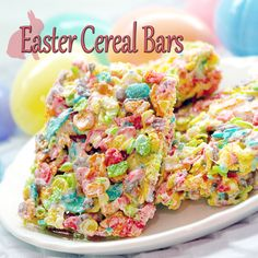 Easter Cereal Bars Recipe - HubADub - Rice Krispies Squares get an Easter makeover your kids will love!