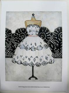 $15.50  Vintage Dress ART Print BY Chariklia Zarris Vintage Style II   eBay