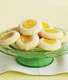 weight watchers recipes: Lemon Thumbprint Cookies 1 Points Plus+ Mothers Day Desserts, Ww Desserts, Lemon Desserts, Lemon Recipes, Ww Recipes, Dessert Recipes, Cooking Recipes, Healthy Recipes, Dinner Recipes