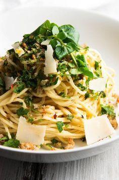 Garlic Butter White Wine Pasta with Fresh Herbs