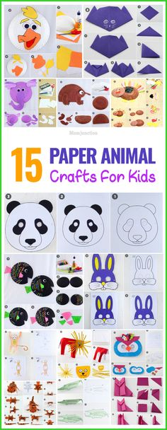 This collection of Paper animal and crafts will provide hours of fun for kids of all ages.Find here myriad ways to let your kid create own special animal.