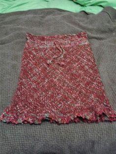 Falda a telar Weaving Techniques, Tie Dye Skirt, Loom, Skirts, Crafts, Handmade, Clothes, Crochet Edgings, Fashion