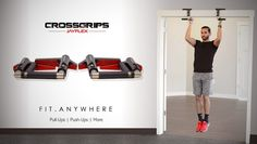 """Jayflex is raising funds for CrossGrips - The World's First Multi-Gym Fitness Handles on Kickstarter! CrossGrips by Jayflex are the """"Swiss Army Knife"""" of exercise equipment. A compact multi-gym built for home and travel. Gym Workouts, At Home Workouts, Multi Gym, Pull Up Bar, At Home Gym, Swiss Army, No Equipment Workout, First World, Cardio"""