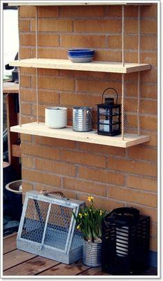 Diy: garden shelf