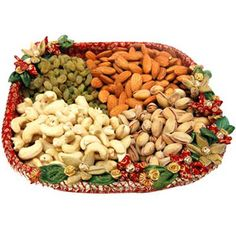 Rakhi Gifts - Ideal Dry fruit gift this raksha bandhan shower all your love and affection on your loving brother by sending him this exclusive traditional designer Dry Fruit Thali.