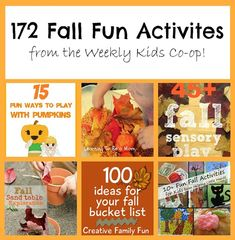 172 Fall Fun Activities for Families from The Weekly Kids Co-op.