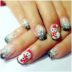 """Find and save images from the """"nails"""" collection by chantesays (chantespotser) on We Heart It, your everyday app to get lost in what you love. Christmas Tree Nails, Xmas Nails, Christmas Nail Designs, Christmas Time, Plaid Nail Art, Plaid Nails, Snowflake Nail Design, Snowflake Nails, Pretty Nail Designs"""