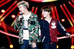 Rap Monster and Jimin BTS
