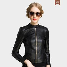 >> Click to Buy << New Fashion Autumn Winter Women Brand sheepskin Soft Leather Jackets Black Blazer Zippers Coat Motorcycle leather coat S M L XL #Affiliate