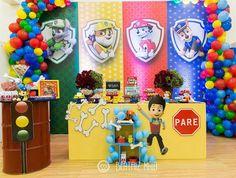 Paw Patrol Birthday Decorations, Paw Patrol Birthday Theme, Wedding Balloon Decorations, Baby Shower Decorations, Cars Birthday Parties, Boy Birthday, Paw Patrol Pinata, Party Planning, Cartoons