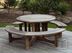 Ronde picknicktafel in padoek 100% FSC
