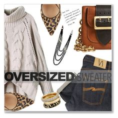 """""""Oversized sweater"""" by jan31 ❤ liked on Polyvore featuring Nudie Jeans Co., Gianvito Rossi, Burberry, Michael Kors and Chanel"""