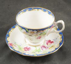 BELL Fine Bone China Cup and Saucer featuring NARCISSUS by RarebirdAntiques on Etsy