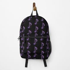 """Purple Sparkle Music Notes Pattern"" Backpack by HavenDesign 