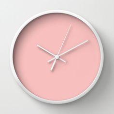 Spanish Pink Clock F7BFBE Light Pink Clock by LushTartArtProject