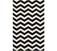 Safavieh Chatham 8'x10' Black/Ivory Chevron Rug | 55DowningStreet.com