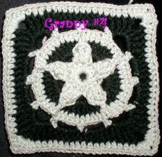 Pentacle  Pentagram Crochet Granny Square by crochetcronesdesigns, $3.00