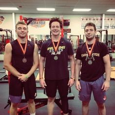 Congrats to our three 2017 Football Ironman medalists:  Adam...