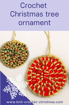 Christmas tree decoration using fabric anf crochet.  #Christmascrochet #Christmastreedecoration #crochet