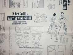 MCCALLS Dressmaking pattern