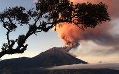 The Tungurahua volcano erupts in Banos, 178 km south of Quito, Ecuador