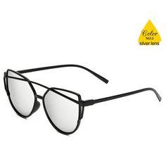 cbc940da17 2017 New Cat Eye Sunglasses Women Brand Designer Fashion Cateye Sun Glasses  For Female Oculos De Sol feminino – 2 - BenJuma